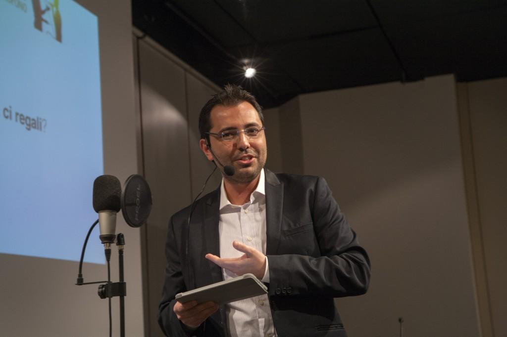 Patrick Facciolo durante un workshop