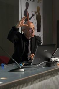 Massimo Arcangeli in una foto scattata durante il Festival del linguaggio 2013