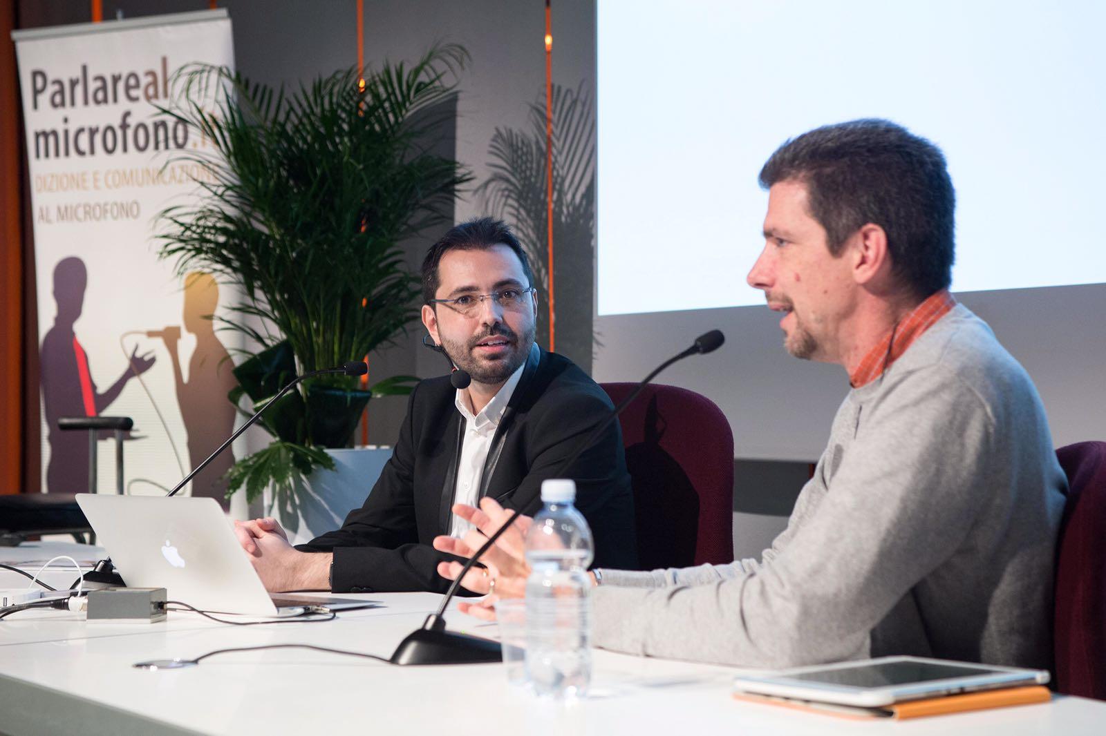 """Patrick Facciolo e Pier Franco Donovan in """"Imparare dalla comunicazione politica"""""""