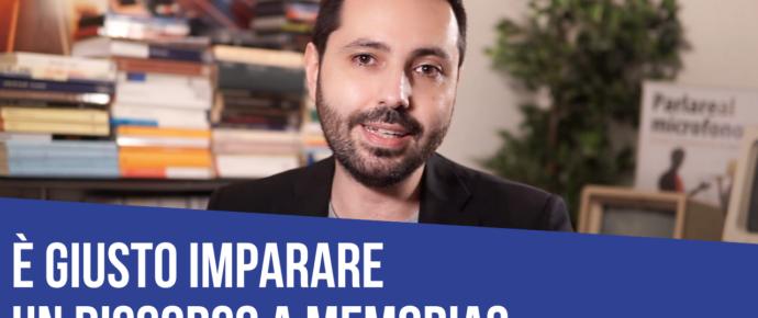 È giusto imparare un discorso a memoria?