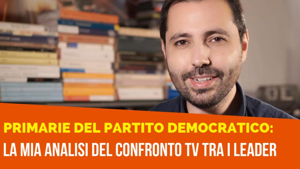 Analisi del confronto TV tra i candidati alle primarie PD