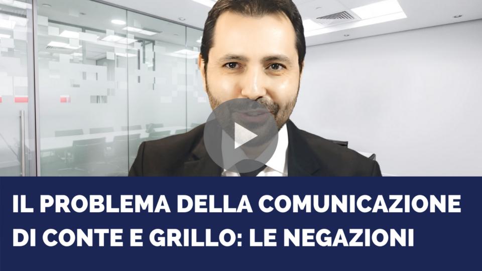 Il problema della comunicazione di Conte e Grillo: le negazioni